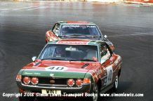 TOYOTA CELICAs Win Percy & Barrie Williams. Photo. Mallory Park RAC Saloons (BTCC) 28 August 1976